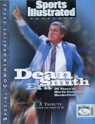 Dean Smith Autographed Sports Illustrated Special Commemorative Issue - JSA Certified Authentic - Silver Autograph