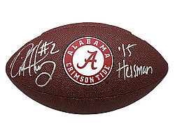 Derrick Henry Autographed Alabama Crimson Tide NCAA Wilson Logo Football - Certified Authentic