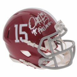 Derrick Henry Autographed Alabama Crimson Tide Speed Mini Helmet - 15 Heisman - Certified Authentic