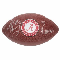 Derrick Henry Autographed Alabama Crimson Tide Wilson Logo Football - 15 Heisman - Certified Authentic