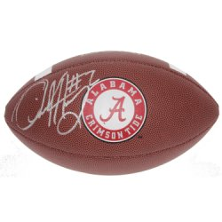 Derrick Henry Autographed Alabama Crimson Tide Wilson NCAA Logo Football - Certified Authentic