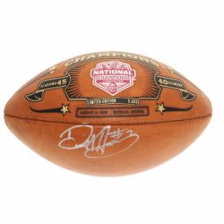 Derrick Henry Autographed College Football Playoff Commemorative Leather Football - PSA/DNA Certified Authentic