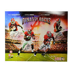 Derrick Henry, Eddie Lacy, Trent Richardson & Mark Ingram Autographed / Signed 16x20 Photo - A Dynasty Backs