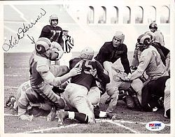 Dick Hoerner Autographed 6x9 Photo Rams - PSA/DNA Certified