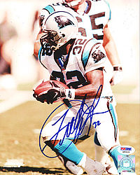 Fred Lane Autographed 8x10 Photo Panthers - PSA/DNA Certified