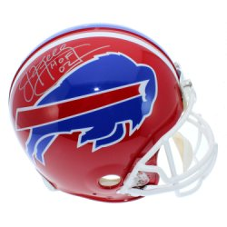 Jim Kelly Autographed Buffalo Bills Authentic Full Size Helmet with HOF 02 Inscription - JSA Certified Authentic