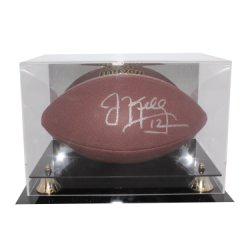 Jim Kelly Autographed Buffalo Bills Wilson NFL Super Grip Football in Display Case - JSA Authentication