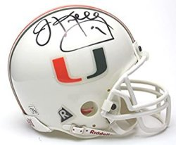 Jim Kelly Autographed Miami Hurricanes Riddell Mini Helmet - Certified Authentic