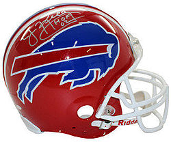 Jim Kelly Autographed Signed Buffalo Bills Full Size Replica Helmet - HOF 02 - JSA