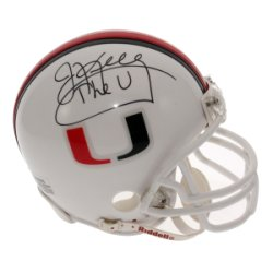 Jim Kelly Autographed University of Miami Hurricanes Mini Helmet - The U - Certified Authentic