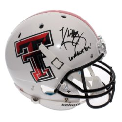 Kliff Kingsbury Autographed Full Size Replica White Alternate Helmet - Wreck Em - Texas Tech Red Raiders - JSA Certified