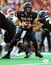 Kliff Kingsbury Texas Tech Red Raiders Autographed 8x10 Photo - Certified Authentic