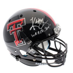Kliff Kingsbury Texas Tech Red Raiders Schutt Black Full Size Replica Helmet - JSA Certified Authentic