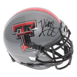 Kliff Kingsbury Texas Tech Red Raiders Schutt Gray Mini Helmet - JSA Certified Authentic