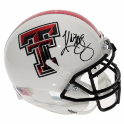 Kliff Kingsbury Texas Tech Red Raiders Schutt White Mini Helmet - JSA Certified Authentic