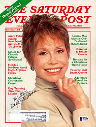 Mary Tyler Moore Autographed Magazine To Stan - Beckett Certified