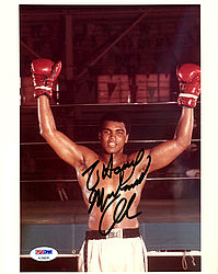 Muhammad Ali Autographed 8x10 Photo To Harry Vintage 1970's Signature - PSA/DNA Certified