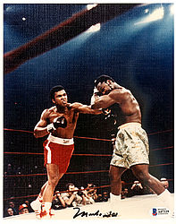 Muhammad Ali Autographed 8x10 Photo Vintage - Beckett Certified