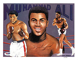 Muhammad Ali Autographed 8x10 Photograph - PSA/DNA Certified