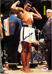 Muhammad Ali Autographed 8x11.5 Magazine Page Photo - PSA/DNA Certified