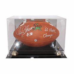 Rocky Bleier Autographed Notre Dame Fighting Irish Limited Edition Wilson GST Leather Football in Display Case - 66 Natl Champs Inscription - PSA/DNA Authentic