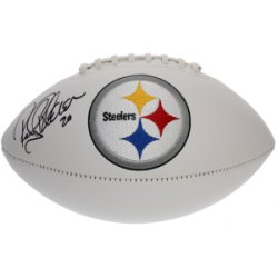 Rocky Bleier Autographed Pittsburgh Steelers White Panel Football - JSA Certified Authentic