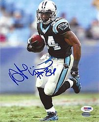 Signed DeAngelo Williams Autographed 8x10 Photo Carolina Panthers - PSA/DNA Certified