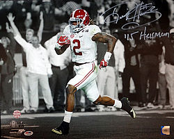 Signed Derrick Henry Autographed 16x20 Photo Alabama Crimson Tide 15 Heisman - PSA/DNA Certified - Signed NFL Football Photos