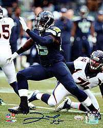 Signed Frank Clark Autographed 8x10 Photo Seattle Seahawks - Signed NFL Football Photos