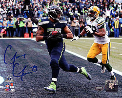 Signed Garry Gilliam Autographed 8x10 Photo Seattle Seahawks - Signed NFL Football Photos