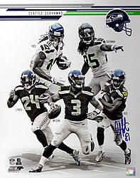 Signed Golden Tate Autographed 16x20 Photo Seattle Seahawks - Signed NFL Football Photos