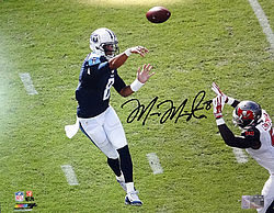 Signed Marcus Mariota Autographed 16x20 Photo Tennessee Titans First Game MM Holo Stock #94939 - Signed NFL Football Photos