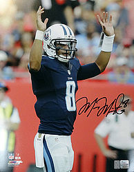 Signed Marcus Mariota Autographed 16x20 Photo Tennessee Titans MM Holo Stock #94940 - Signed NFL Football Photos