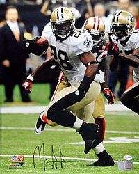 Signed Mark Ingram Autographed 16x20 Photo New Orleans Saints - PSA/DNA Certified - Signed NFL Football Photos