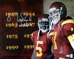 Signed Matt Leinart Autographed 16x20 Photo USC Trojans Heisman '04 - PSA/DNA Certified - Signed NFL Football Photos