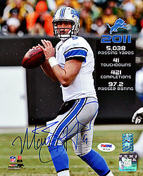 Signed Matthew Stafford Autographed 8x10 Photo Detroit Lions - PSA/DNA Certified - Signed NFL Football Photos