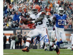 Trent Richardson Autographed Cleveland Browns 8x10 Photo - Score