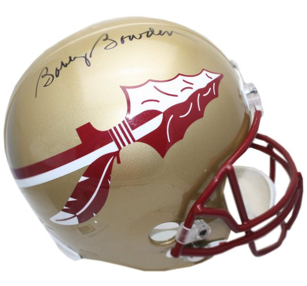 Bobby Bowden Autographed Florida State Seminoles Schutt Full Size Replica Gold Helmet - JSA Certified Authentic