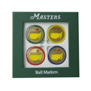 Masters Golf Ball Markers 4-Pack Variety