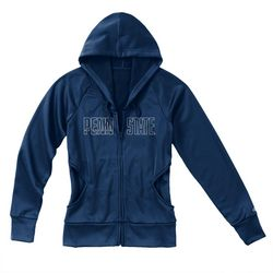 Penn State Nittany Lions Juniors Performance Zip Up Sweatshirt Navy