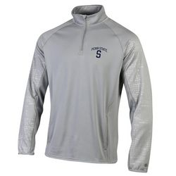 Champion Penn State Quarter Zip Sweatshirt Gray Block S Nittany Lions (PSU) (Champion)