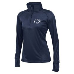 Penn State Womens Performance Quarter Zip Shirt Navy