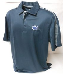 Charles River Apparel Penn State Polo Shirt Navy Charcoal Inserts Nittany Lions (PSU) (Charles River Apparel)