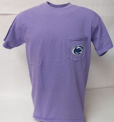 Comfort Colors Penn State Pocket T-Shirt Violet Nittany Lions (PSU) (Comfort Colors)