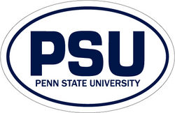 "Penn State Car Magnet Euro-Style PSU - White - 4"" x 6"" Nittany Lions (PSU)"
