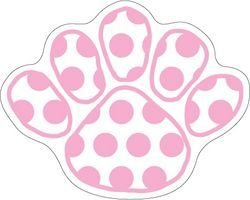 Penn State Car Magnet Pink Polka Dot Size Medium