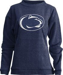 Penn State Comfy Terry Womens Shirt Navy Lion Head Nittany Lions (PSU)