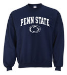 Penn State Crew Neck Sweatshirt Arching Over Lion Navy