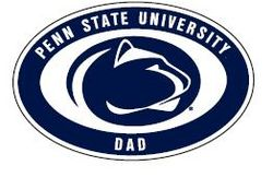 "Penn State Dad Car Magnet 4"" X 6"" Nittany Lions (PSU)"