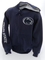 Penn State Embroidered Zip Up Hooded Sweatshirt Lion Head Navy Nittany Lions (PSU)